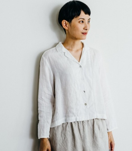 Fog Linen ruby shirt white