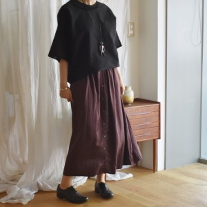 Elsa Esturgie viscose button skirt
