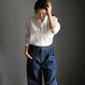 factory Roll up denim pants