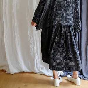 manuelle silk dotty skirt