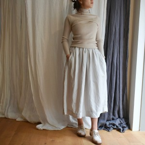 manuelle skirt sherry (black 추가입고)