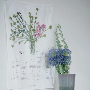 2020 foglinen calendar cloth : flower