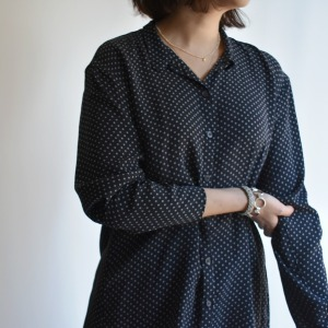 manuelle dotty silk shirt with collar
