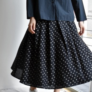 apuntob dot wrap skirt