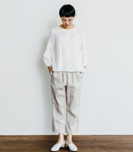 Fog linen allison pants denim white