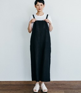 Fog linen ellie salopette pants black