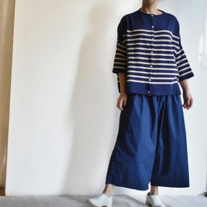 Elastic belt wide pants