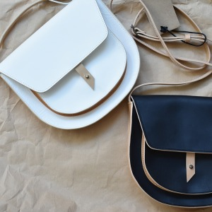 Rosamosa white leather bag
