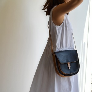 Rosamosa black leather large bag