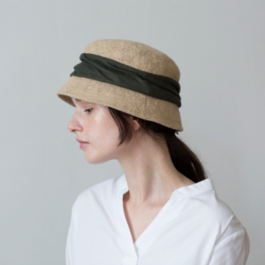 mature jute drape hat short