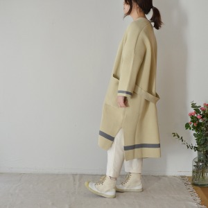 F/CE line long cardigan