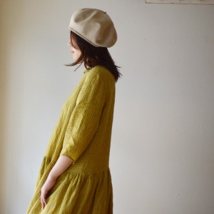 Apuntob lemon collar dress