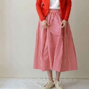 Apuntob skirt strip cherry